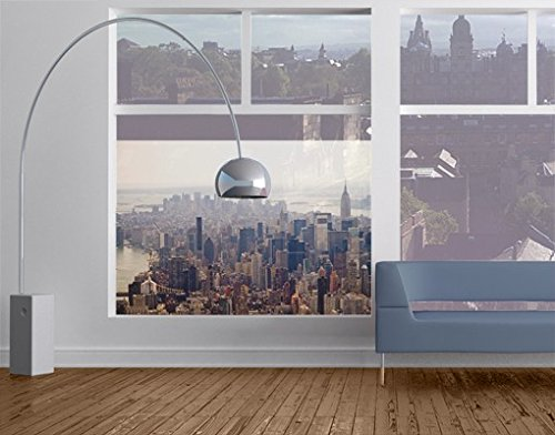 Window Mural Morning In New York window sticker window film window tattoo glass sticker window art window décor window decoration Size: 56.7 x 85 inches by PPS. Imaging (Image #3)