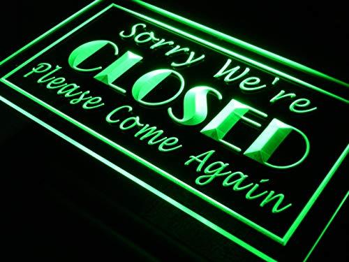 ADVPRO Sorry We're Closed Shop Close Neonschild LED看板 ネオンプレート サイン 標識 Orange 600 x 400mm st4s64-i102-o B07G65S3T2 24