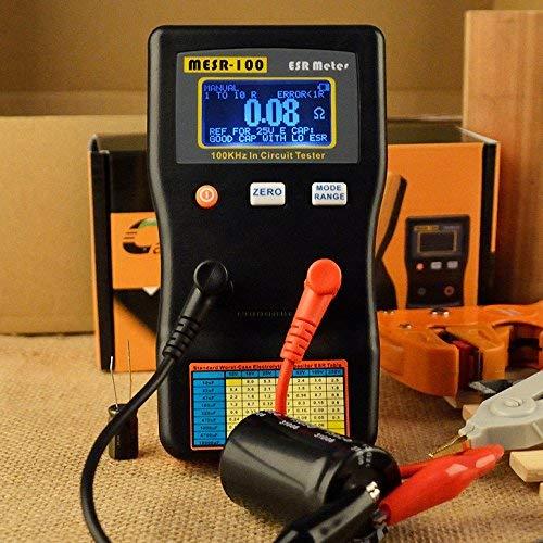 Capacitor Ohm Meter, KKmoon MESR-100 ESR Capacitance Ohm Meter, Professional Measuring Capacitance Resistance Capacitor Circuit Tester by KKmoon (Image #6)