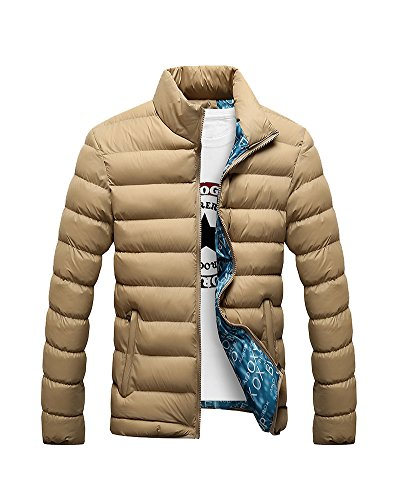 Coat Jacket Winter Collar Men'S Thick Khaki DianShao Outwear Stand Padded Warm pYTXwq