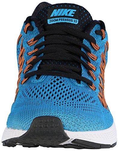 Nike Air Zoom Pegasus 32 (W) - Zapatillas de running Hombre Azul / Negro / Blanco / Naranja (Bl Lgn / Blck-Brght Ctrs-Ttl Orn)