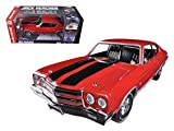 Autoworld AWSS109 1970 Chevrolet Chevelle SS 454 Red Jack Reacher Limited to 1250 Piece 1-18 Diecast Car Model