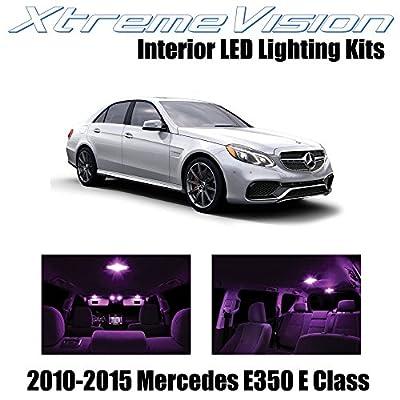 Xtremevision Interior LED for Mercedes E350 E550 E63 AMG E Class Sedan 2010-2015 (7 Pieces) Pink Interior LED Kit + Installation Tool Tool: Automotive
