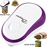 BangRui Can Opener Electric One Touch Can Opener Best Can Opener Soft Edge Automatic Electric Can Opener with Assistive Auto-Stop (purple)
