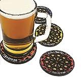 Asreal Decor 4Pcs/set Round Bullseye Coasters Dart Board Drink Bottle Beer Beverage Cup Mats