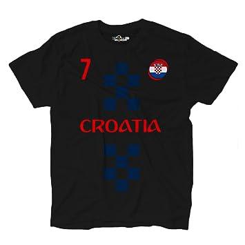 KiarenzaFD - Camiseta de la selección de fútbol de Croacia, número 7, Rakitic - Estilo ropa de calle: Amazon.es: Deportes y aire libre