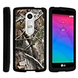 LG Leon Case, Perfect Fit Cell Phone Case Hard Cover with Cute Design Patterns for LG Leon LTE C40, H340N from MINITURTLE - Tree Bark Hunter Camouflage