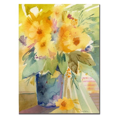 Trademark Fine Art  Bouquet in Yellow Canvas Art
