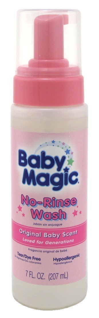 Baby Magic No-Rinse Wash 7oz Original Baby Scent (2 Pack)