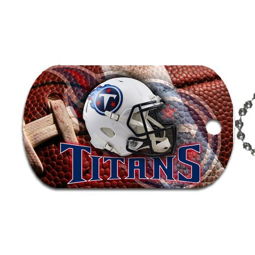 "Titans Football Dog Tag with 30"" chain necklace Great Gift Idea Tennessee"
