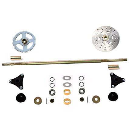 Amazon com: WPHMOTO Go Kart Rear Axle Assembly Complete