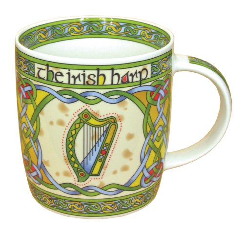 Irish China (Irish Harp bone china mug - Irish gift designed in Galway Ireland)