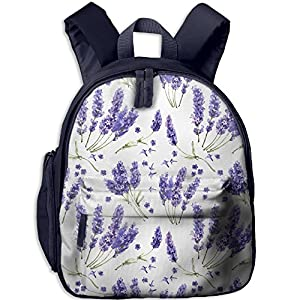 Sunmoonet Student Tiny Backpack, Lavender Purple Flower Pre School Backpack For Toddler