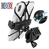 LATSKGN Motorcycle Mobile Phone Holder and Bicycle Mobile Phone Holder, Bracket for iPhone X XR 8 7 6 Plus Samsung Galaxy S9 S8 S7 S7 Edge, Bicycle and Motorcycle Universal Handlebar Bracket