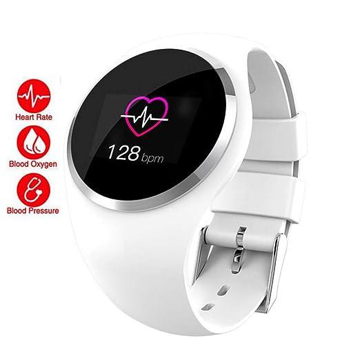 QLPP Bluetooth Lady Smart Watch Monitor de Ritmo cardíaco ...