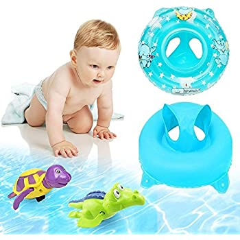 Amazon.com: Uclever Premium White Swan Baby Float Swimming Ring ...
