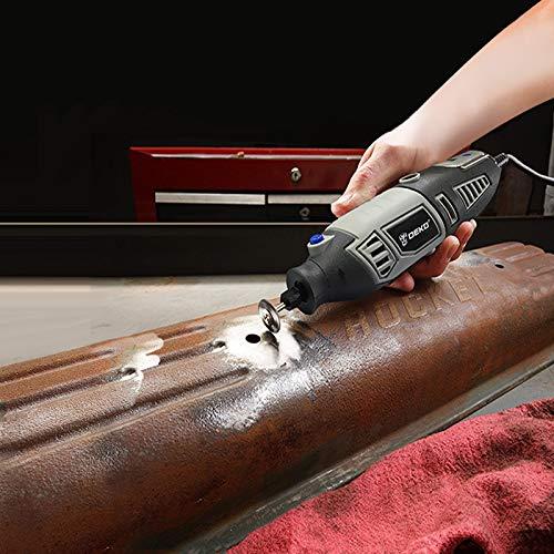 DEKO Mini Amoladora con 126 pcs Accesorios para los DIY trabajos de Pulido Abrasivo y Corte Multiherramienta