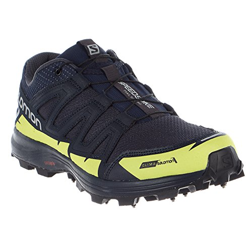 Salomon Speedspike CS Running Shoes - Navy Blazer, Reflective Silver, Lime Punch - Mens - 10 by Salomon (Image #3)