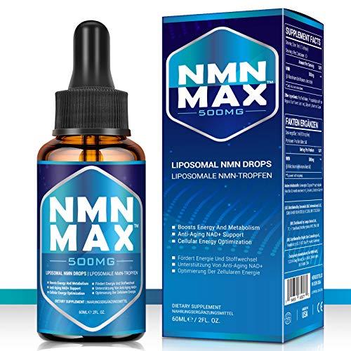 NMN MAX Liposomal NMN Drops™: 500mg Per Dropper,Nicotinamide Mononucleotide- NAD+ Energy Booster& Anti-Aging&Antioxidant…