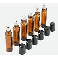 12 Botella Roll-on Vidrio 5ml ambar