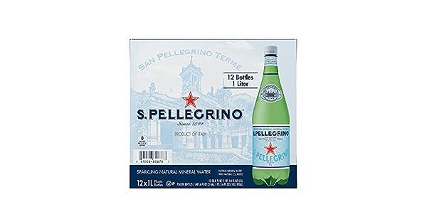 San Pellegrino Sparkling Agua Mineral Natural, 33.8-ounce ...