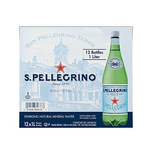 San Pellegrino Sparkling Natural Mineral Water, 33.8-ounce plastic bottles