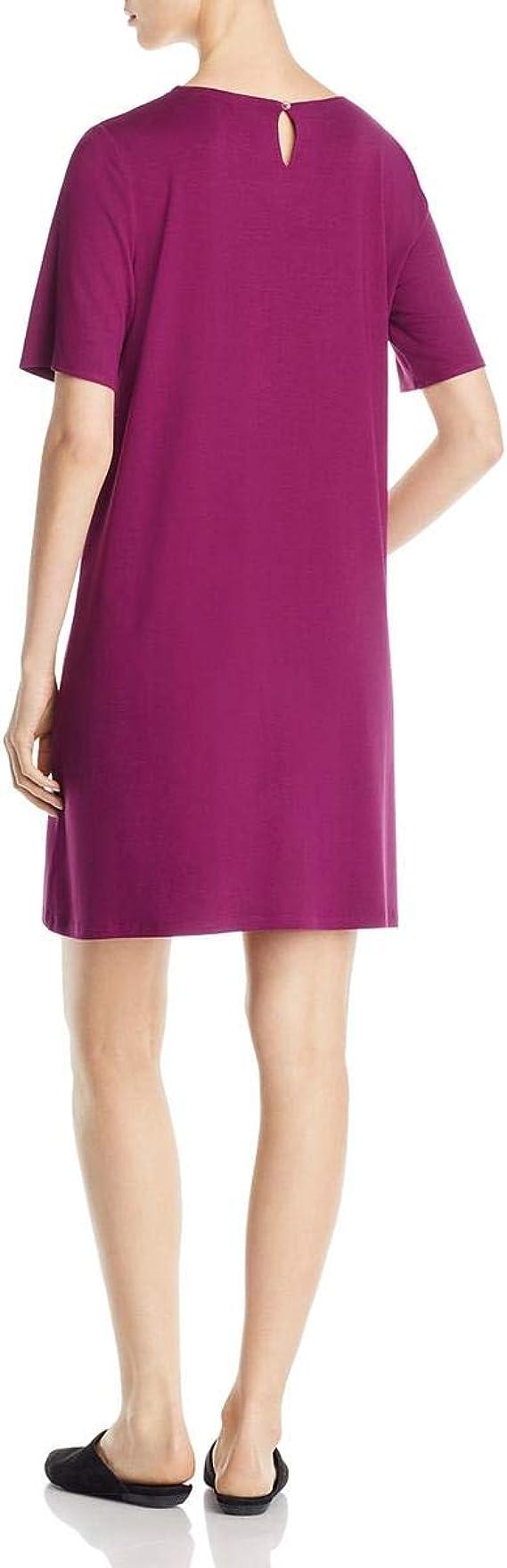 Eileen Fisher New Size L Boysenberry Purple Viscose Dress