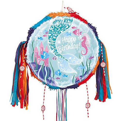 Sirena feliz cumpleaños Tire Cadena Piñata: Amazon.es ...