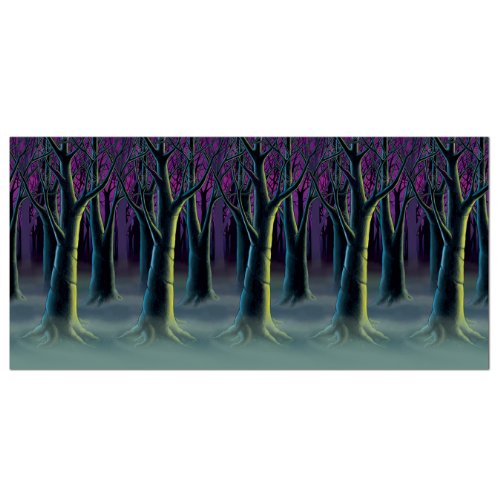 Beistle Spooky Forest Trees Backdrop, 4-Feet by (Spooky Halloween Scene)