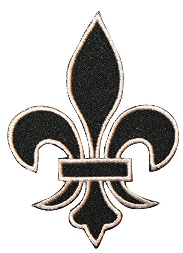 ID 3392 Fleur-De-Lis Symbol Patch French Flower Embroidered Iron On Applique ()