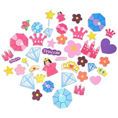 500 Self Adhesive Foam Princess Shapes - Stickers: Toys & Games