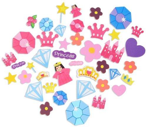 500 Self Adhesive Foam Princess Shapes - Stickers ()