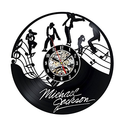 Vinyl Record Clock Gift for Michael Jackson Fans
