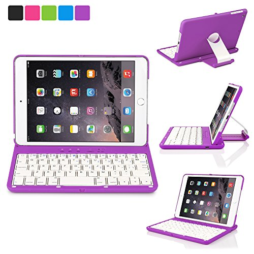 ipad 2 keyboard case purple - 6