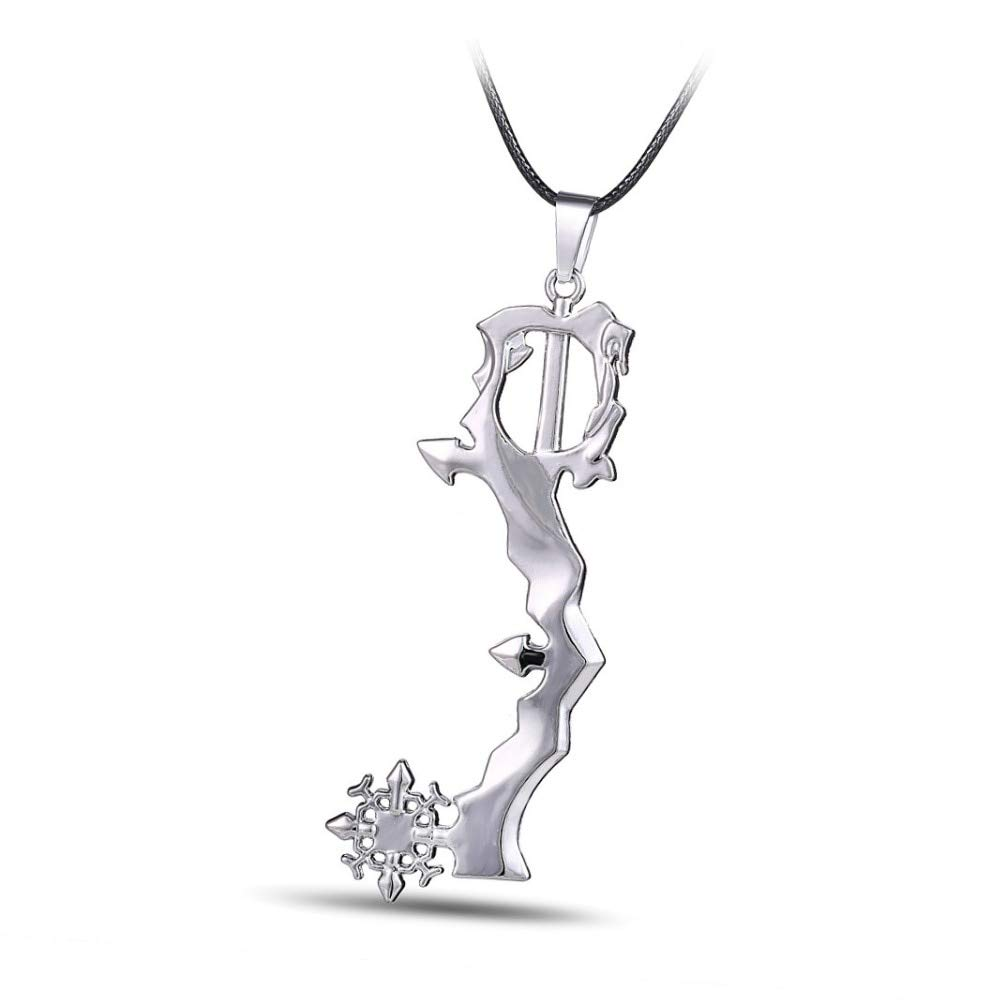 Value-Smart-Toys - H&F 12pcs/lot Game Series New Design Jewelry Kingdom Hearts silver Pendant Necklace sale rope necklace HF10606a