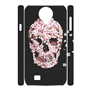 Skull DIY 3D Cover Case for SamSung Galaxy S4 I9500,personalized phone case ygtg557525
