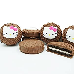 Philadelphia Candies Licensed Hello Kitty Milk Chocolate Covered OREO Cookies, 8 Ounce Gift Box