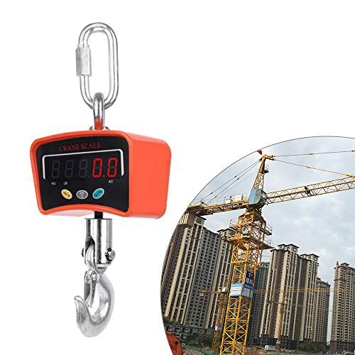500KG/1100 LBS Digital Crane Scale 110V/220V Heavy Duty Industrial Hanging Scale Electronic Weighing Balance Tools W/LED Display