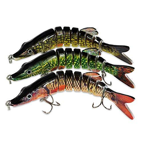 ROSE KULI Fishing Lures for Bass Multi Jointed Swimbaits Lifelike Hard Lures Tackle Kits