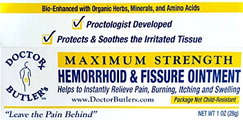 Doctor Butler's Hemorrhoid & Fissure Ointment...FDA Approved