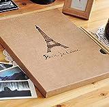 Hxytech Vintage Handmade Photo Album Paris Eiffel Tower Diy Stickers Scrapbooking Craft Paper Albums Family Friends Travel Wedding