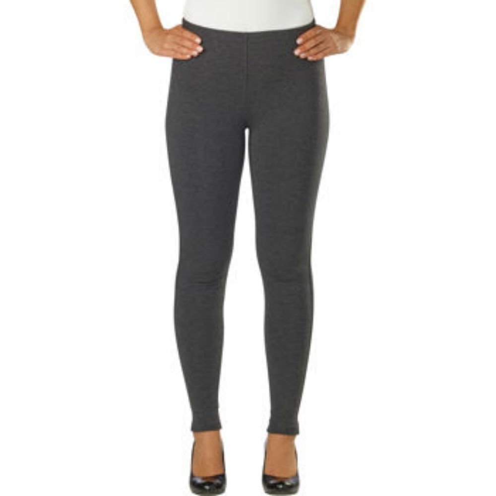 Kirkland Signature Ladies' Pull-On Style Legging, Stretch Fabrication, Elastic Waistband (Small, Gray) by Kirkland Signature