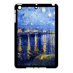 3D Van Gogh Art Series,iPad Mini 2D Case,Van Gogh Art Starry Night Over the Rhone Phone Case For iPad Mini 2D[Black] by ruishername