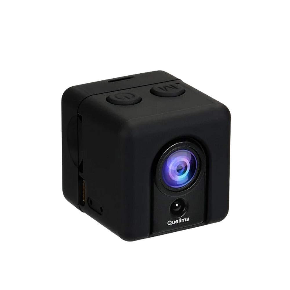 Bibao - Mini cá mara de coche Quelima SQ20 + Full HD 1080P DV3-5M cá mara de acció n deportiva de visió n nocturna DVR grabadora b-a