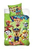 Bed Linen Paw Patrol Single Duvet Cover Kids Bedding Set 140 x 200 cm 100% Cotton Children's Bedroom Decorations (PAW173016)