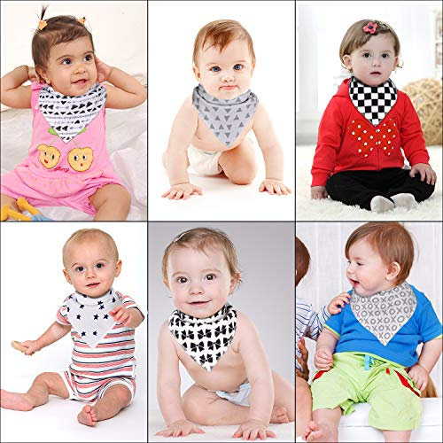 Cotton Baby Bandanas Boys Bibs for Drooling Teething Feeding for 10 Pack