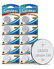 GutAlkaLi 10 Stück CR2025 3V Lithium Knopfzelle Elektro CR 2025 Lithium