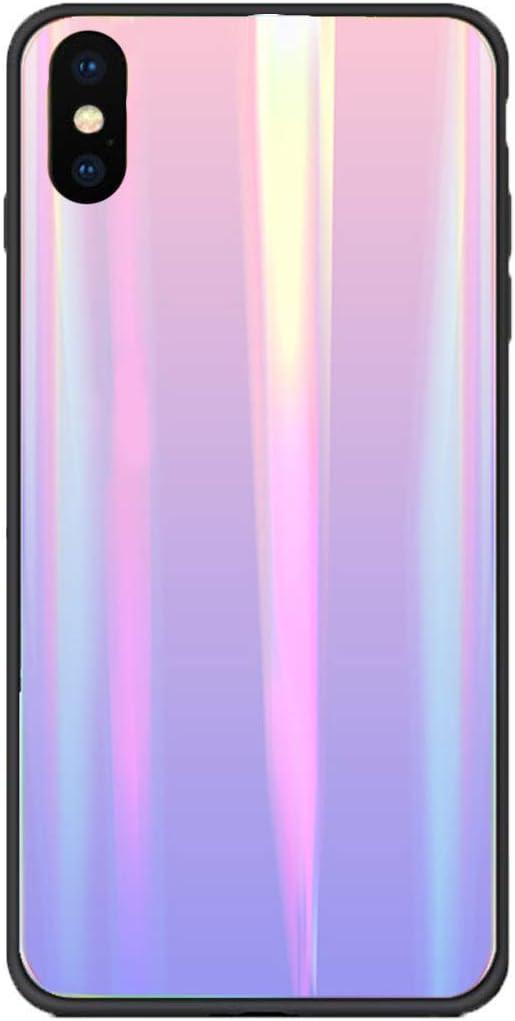 Caler Coque Compatible avec iPhone 6S//iPhone 6 Coque de Protection en Verre tremp/é 9H 【Anti-Rayures】 Cadre Pare-Chocs en TPU Silicone Souple 【Anti-Chocs】 3D Design Vogue Ultra Chic