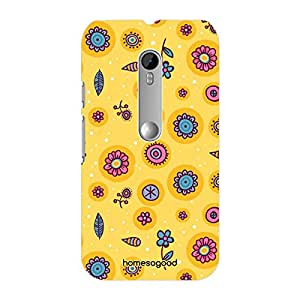 HomeSoGood Beautiful Autumn Yellow 3D Mobile Case For Moto G 3rd Gen (Back Cover)
