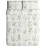 Ikea Strandkrypa Duvet Cover and Pillowcases, Full/Queen, White
